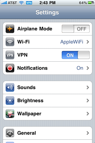 Vpn pour iphone