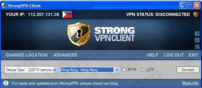 strong vpn configuration