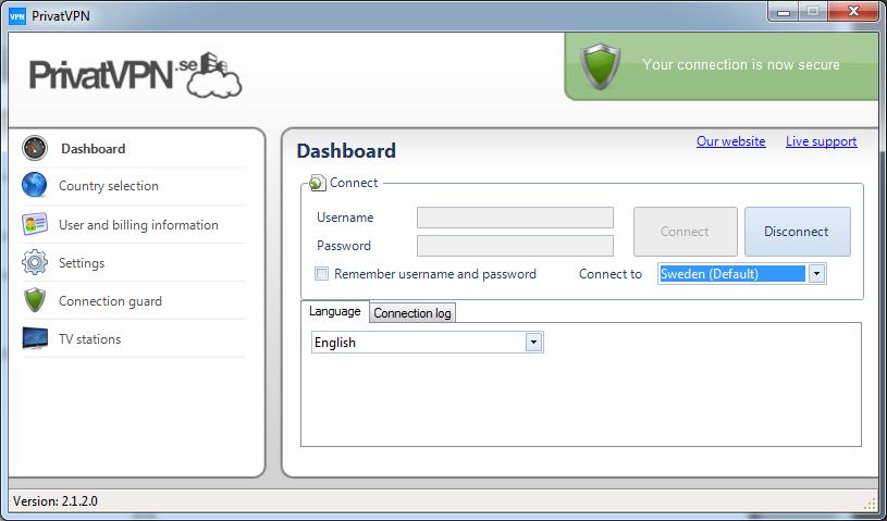 Private vpn configuration