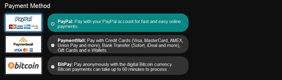 mode de paiement blackvpn