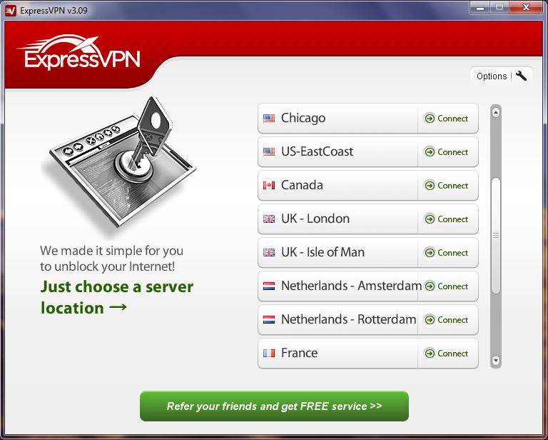Express vpn serveurs