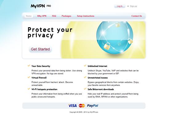 Myvpn pro site