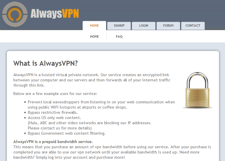 Always vpn site