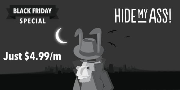 Black Friday chez Hidemyass