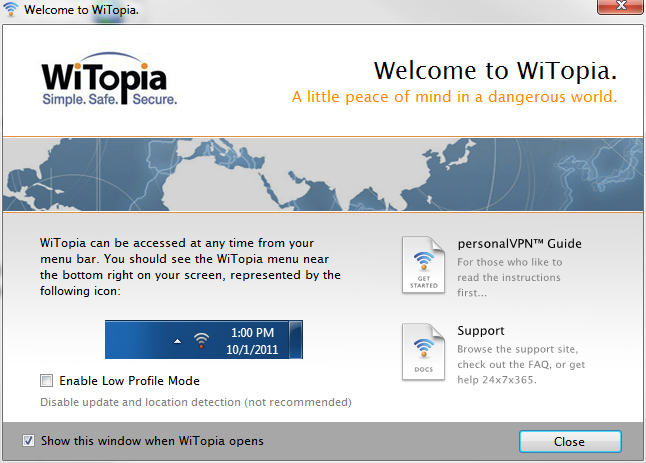 Witopia site