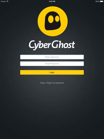 Cyberghost ipad configuration