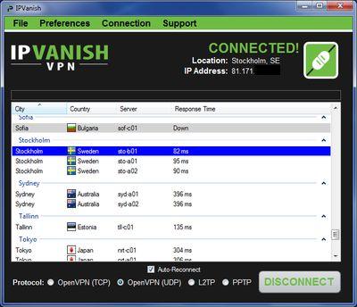 Ipvanish pour Utorrent