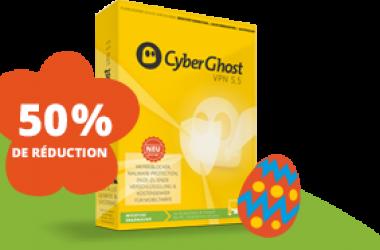 Cyberghost vpn : promo de pâques