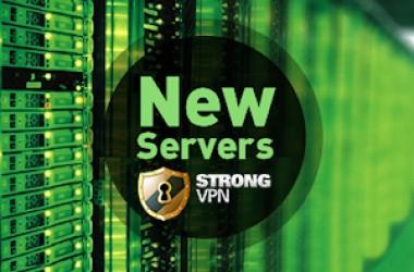 Strongvpn : de nouveaux serveurs vpn installés