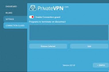 Private vpn : mise à jour de l'application pour Windows