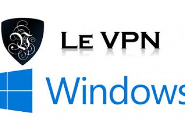Levpn : lancement de l'application pour Windows