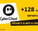 Cyberghost vpn: 128 nouveaux serveurs installés