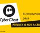 CyberGhost vpn : de nouveaux serveurs dans 10 nouveaux pays