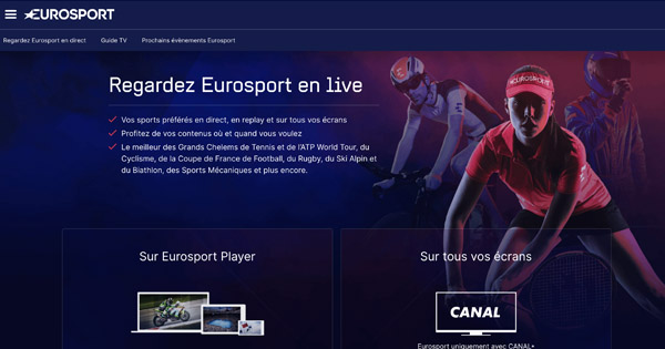 Eurosport streaming etranger