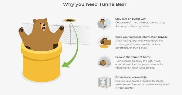 Test de TunnelBear