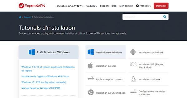 Installation ExpressVPN
